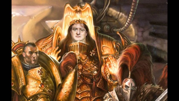 Gabe Newell, God-Emperor of All Gamerkind