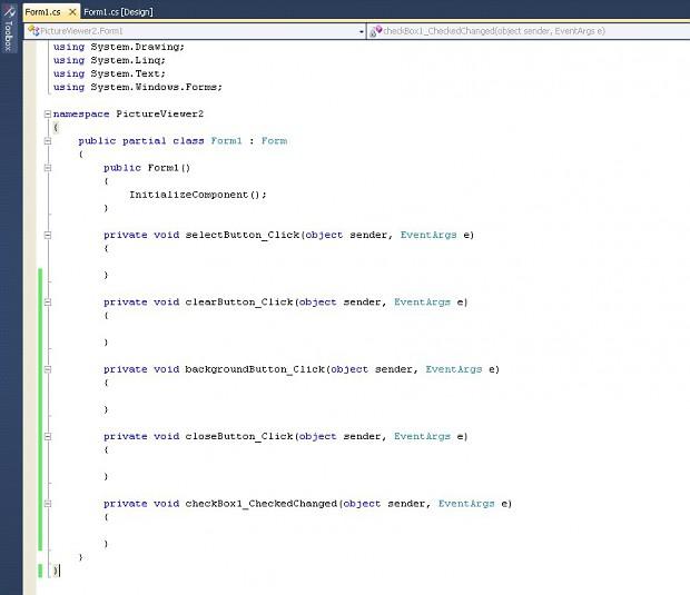 Step 31: Form1.cs all code