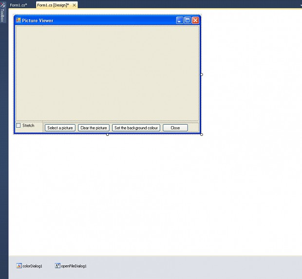 Step 32,5: Dialogs added