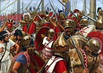 Romans fighting Carthaginians