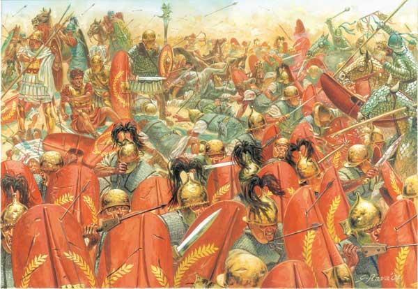 Battle of Carrhae in 53 BC - late roman republic