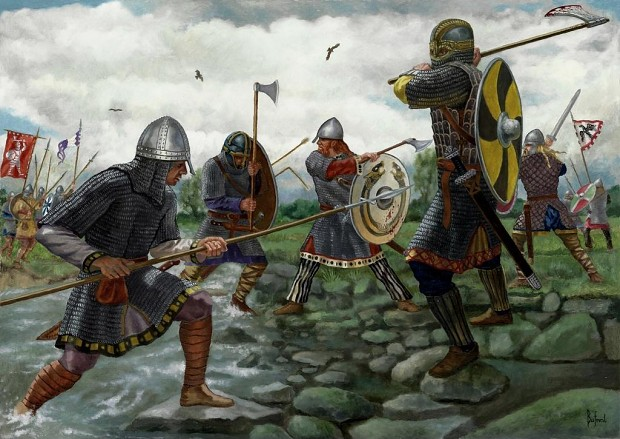 Anglo saxons vs vikings
