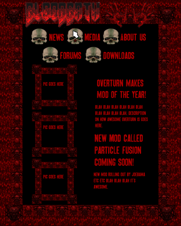 Website Design for Bloodbath Software!