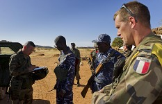 French and Mali armies