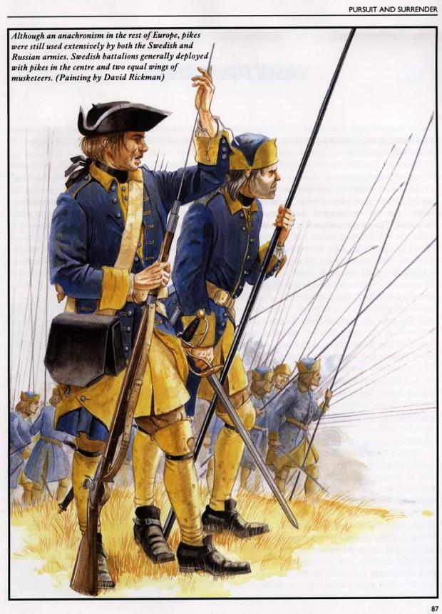 Swedish Caroleans 1709