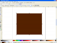 Brown rectangle created, colours selected