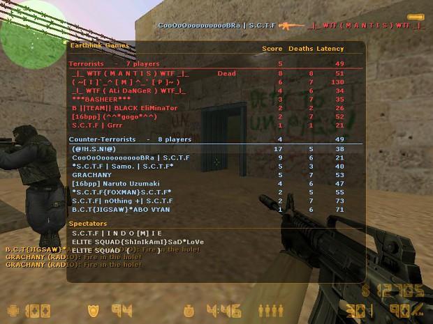 Counter-Strike 1.6 Scoreboard