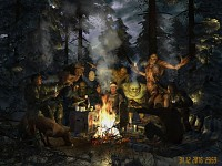 Around the campfire