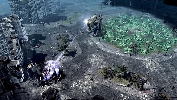 A Giant walks among the ruins