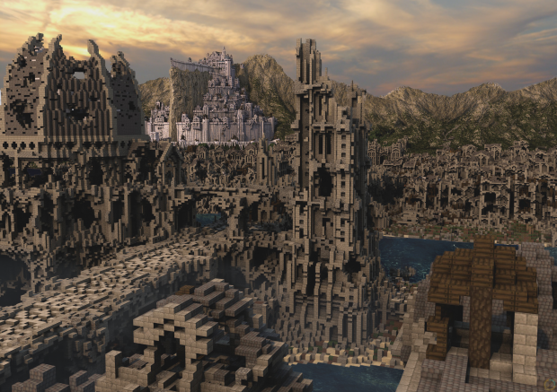 Osgiliath and Minas Tirith