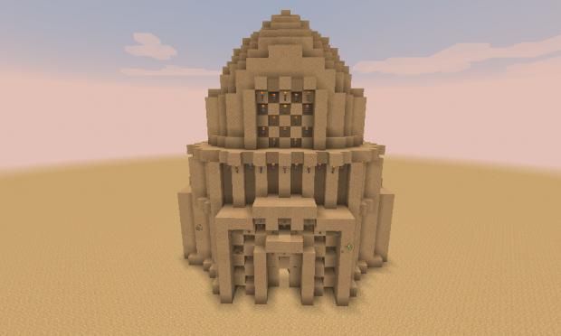 So I made a sand building.(1)