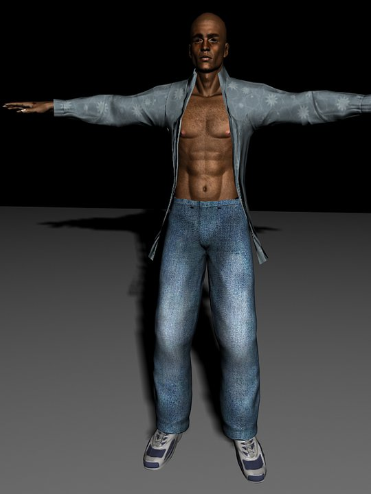 Michael LeRoi - Shadow Man Remake model (WIP)