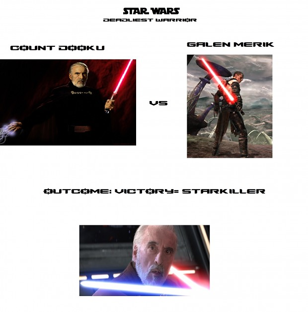 Star Wars: Deadliest Warrior. Dooku vs Starkiller