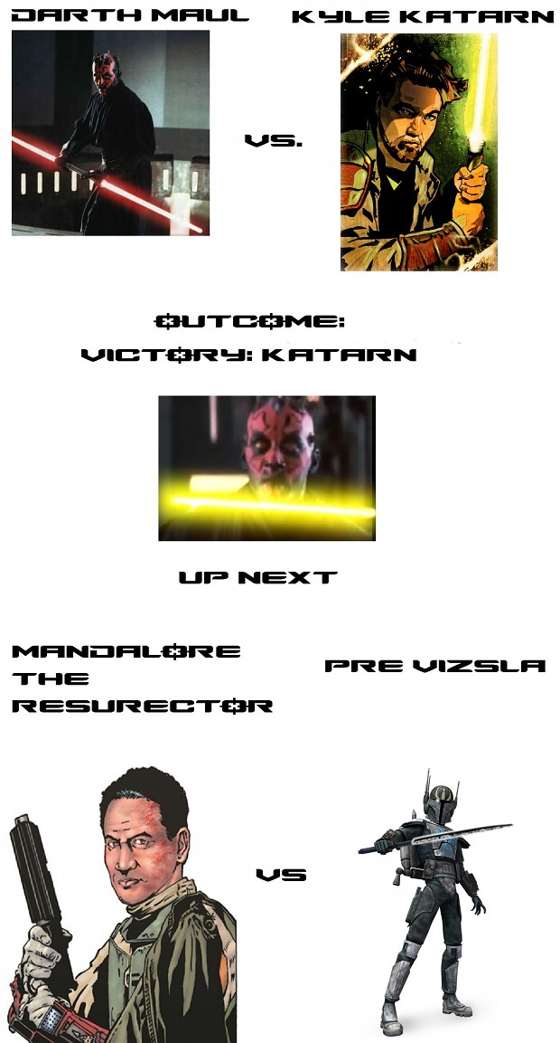 Star Wars: Deadliest Warrior: Maul vs Katarn