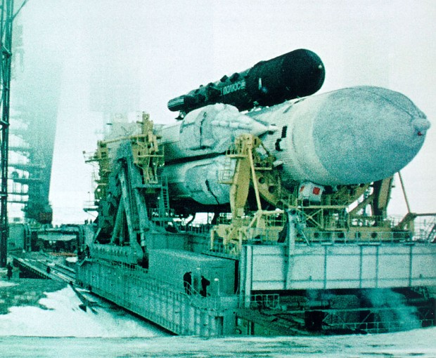 Soviet space laser cannon.