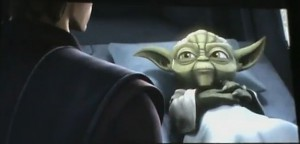 Yoda in bed