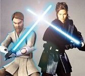 Obi-Wan and Angelina - master and apprentice