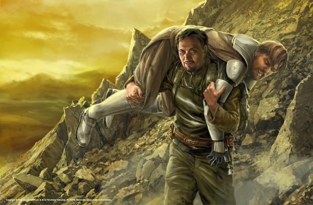 Bail Organa rescuing Obi-Wan