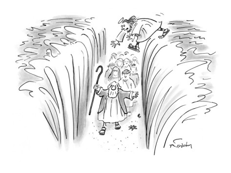 Moses parts the sea...