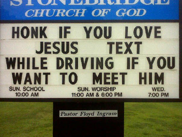 Best Church Sign Ever