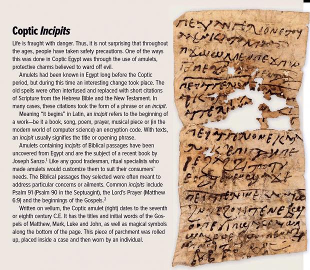 Coptic Incipits
