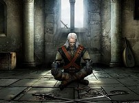 Witcher meditating