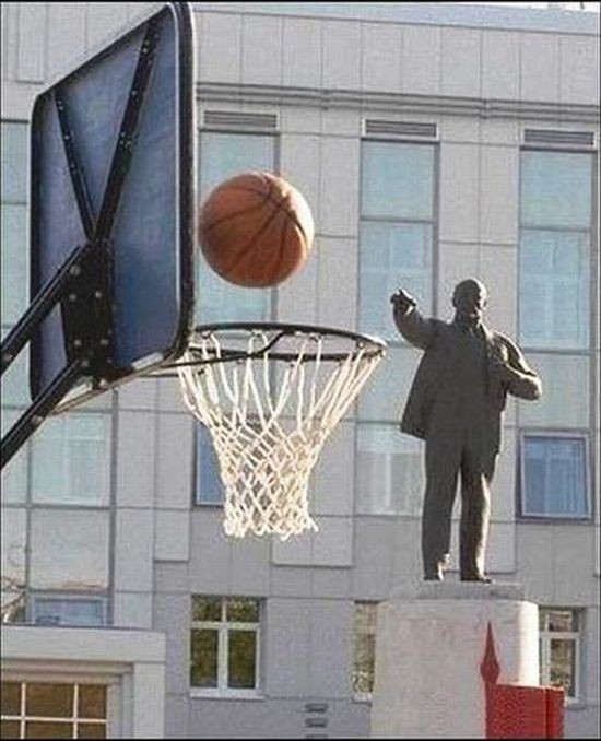 Comrade Lenin setting the score