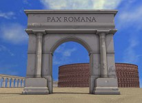 Roman architecture by Kxlexk
