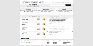 SourceForge website screenshot