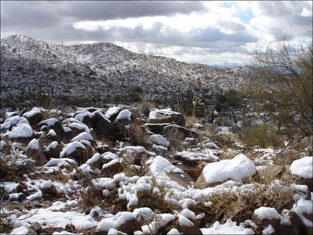 Snow in Four Peaks