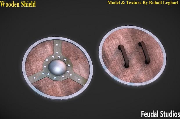 Wooden round shield (sturdy)