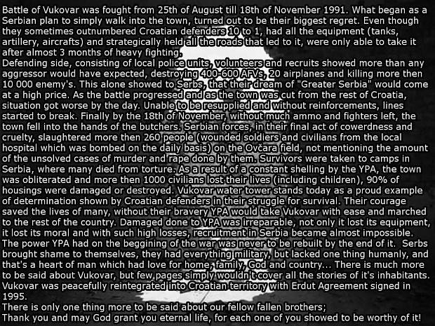 Battle of Vukovar - In memory