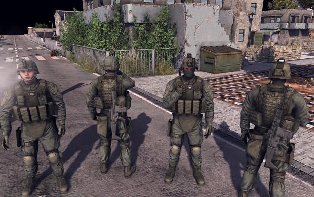 Something that should look like FBI SWAT..