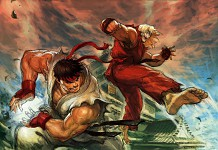 Jin & Hwoarang VS Ryu & Ken