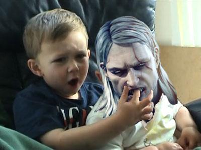 Geralt Bit my finger