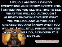 God introduces himself .