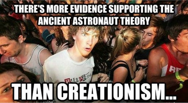 More evidence than creationism