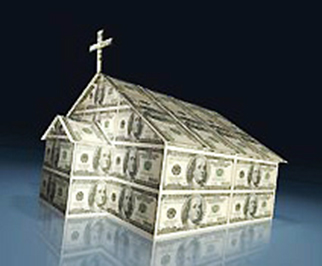 Church... oppressed by... money.