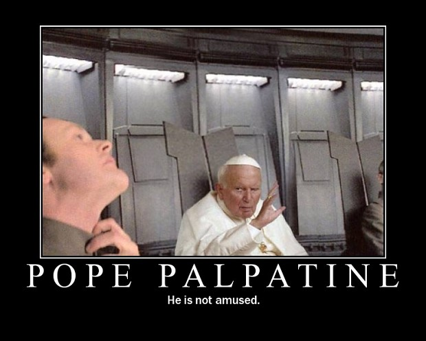 The pope has the Force in him..