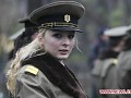 Romanian female soldier