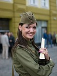 Russian female soldier