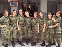 Serbian Female Soldiers/Hostess