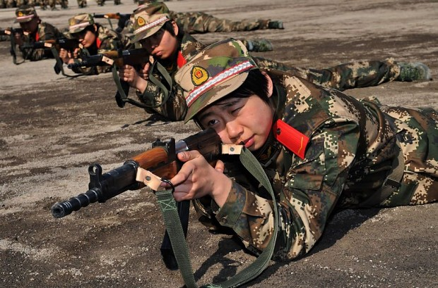CAPF female soldier training