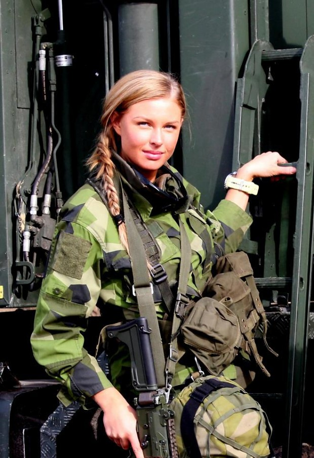 Swedish Female Soldier
