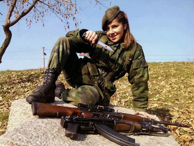 Serbian Female Soldier