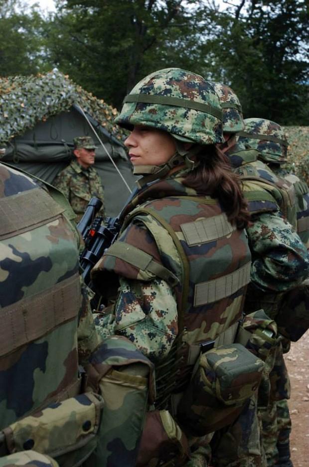 serbian female soldier image