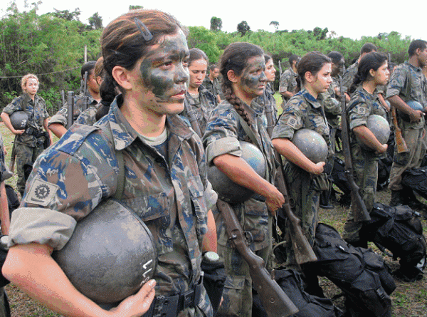 Brazilian Female Soldier