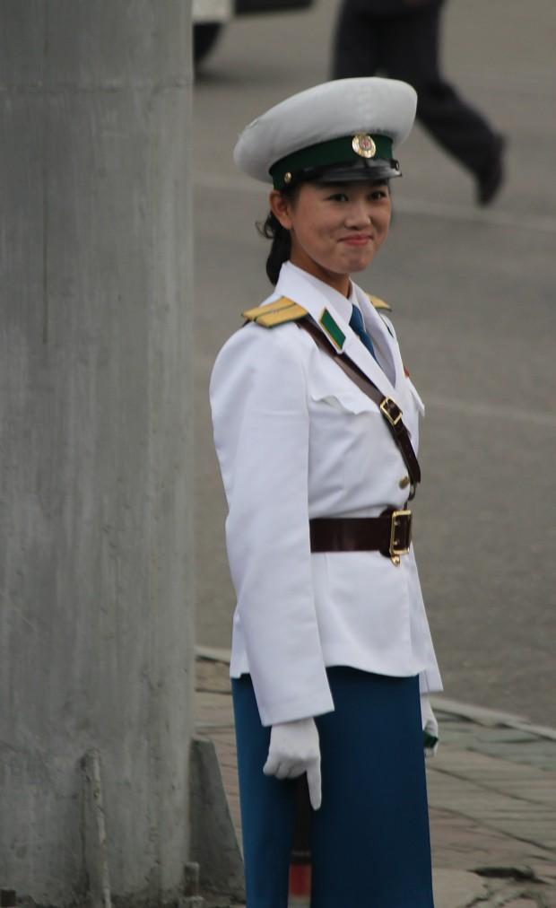 north korean traffic police image