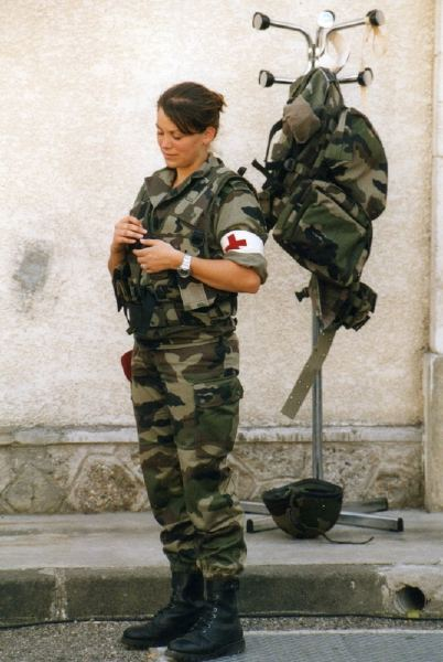 French Army Women French Female Airborne...