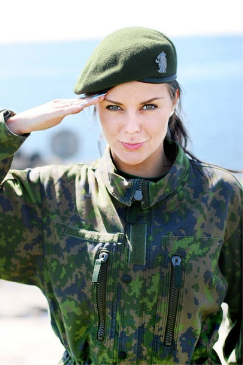 Finnish Female Soldier image Females In Uniform Lovers